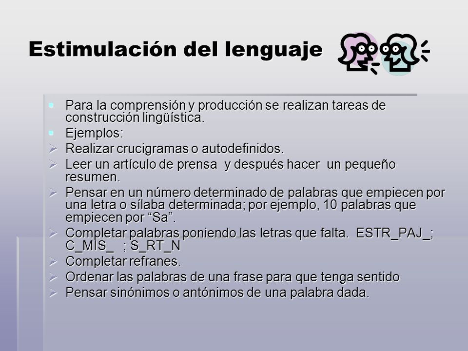 Estimulación del lenguaje