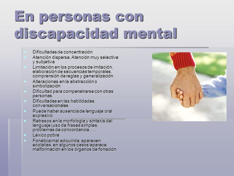 En personas con discapacidad mental