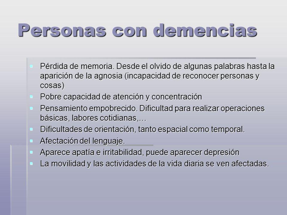 Personas con demencias