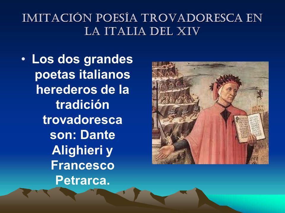 Imitación poesía trovadoresca en la italia del XIV