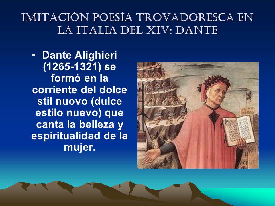 Imitación poesía trovadoresca en la italia del XIV: Dante