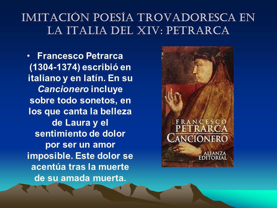 Imitación poesía trovadoresca en la italia del XIV: Petrarca