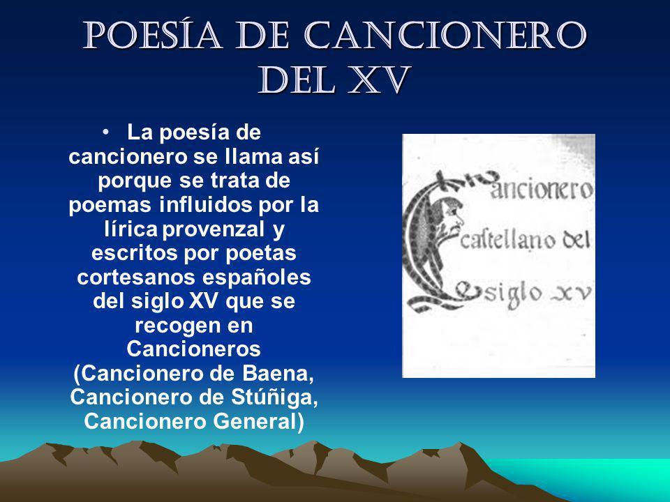 Poesía de cancionero del XV