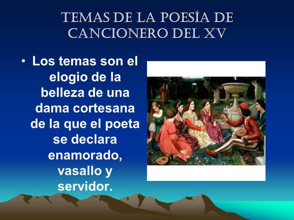 Temas de la Poesía de cancionero del XV