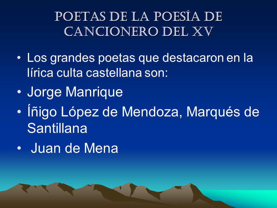 Poetas de la Poesía de cancionero del XV