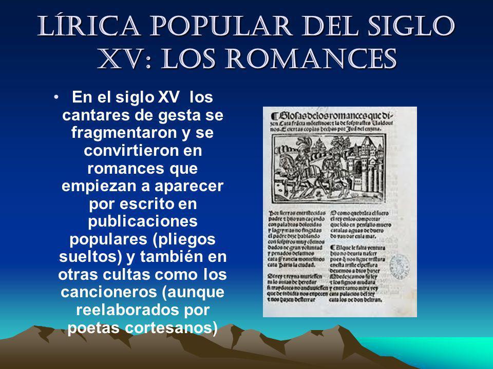 Lírica popular del siglo XV: los romances