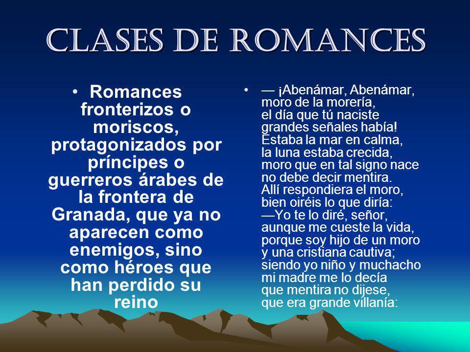 Clases de romances