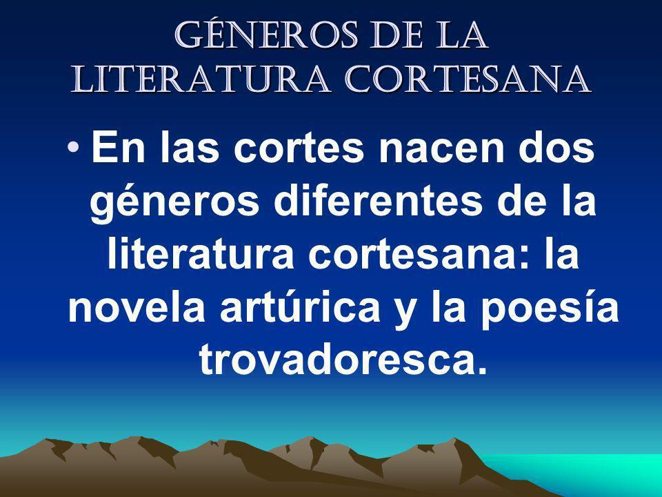 Géneros de la literatura cortesana