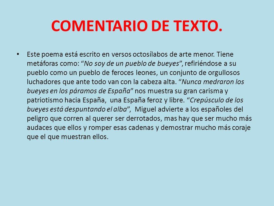 COMENTARIO DE TEXTO.