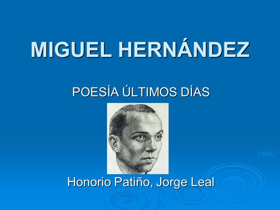 POESÍA ÚLTIMOS DÍAS Honorio Patiño, Jorge Leal