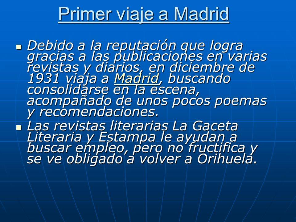 Primer viaje a Madrid