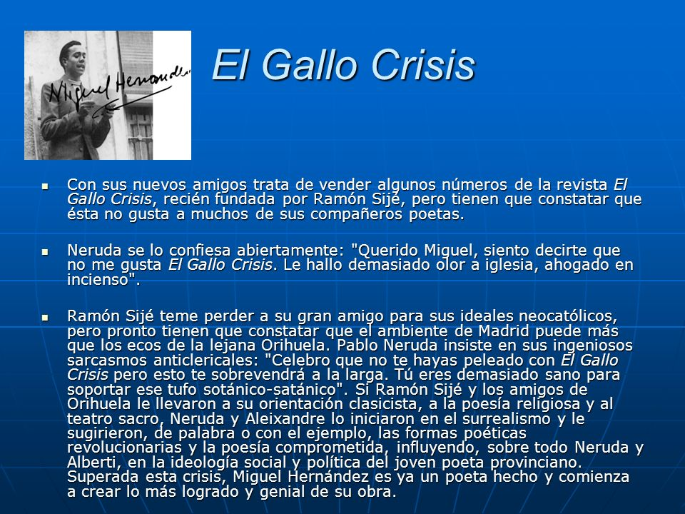 El Gallo Crisis