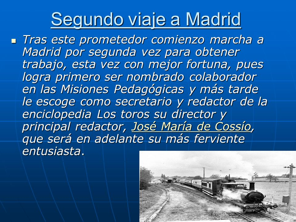 Segundo viaje a Madrid