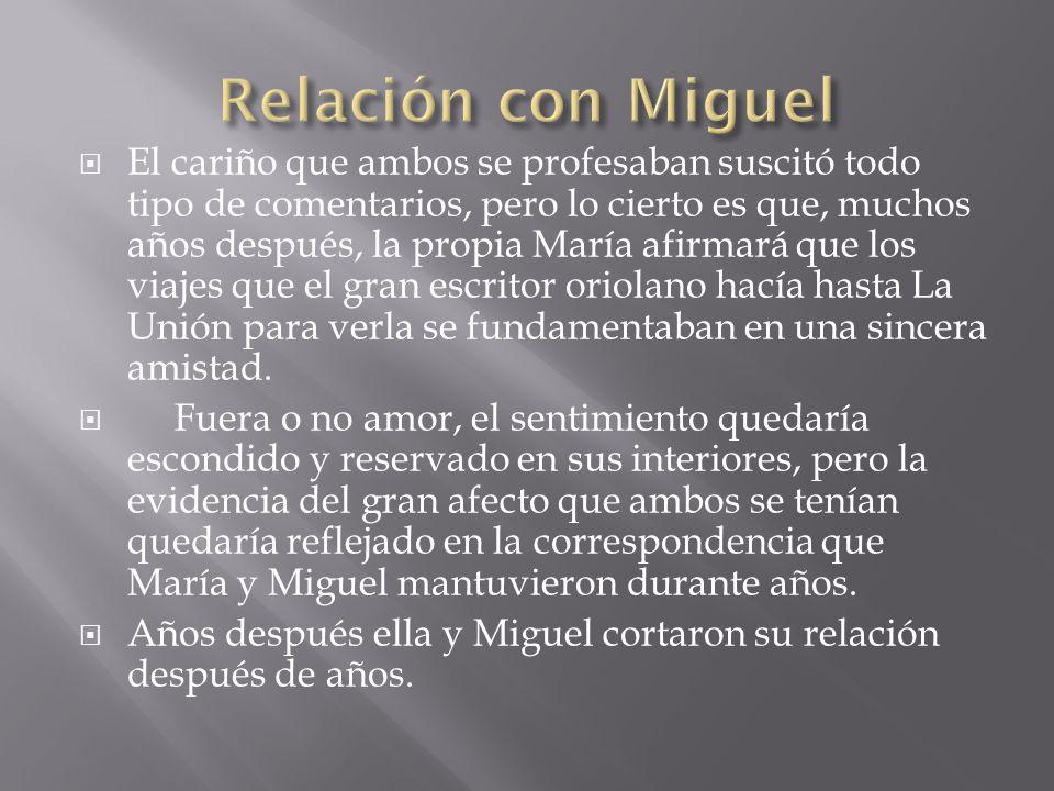 Relación con Miguel