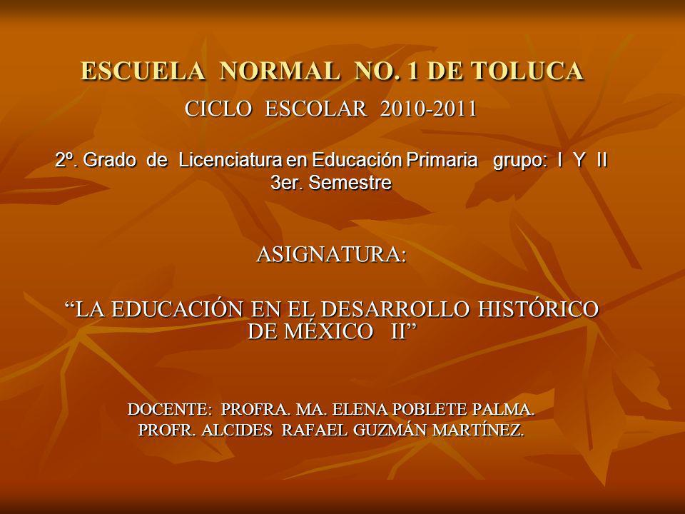ESCUELA NORMAL NO. 1 DE TOLUCA