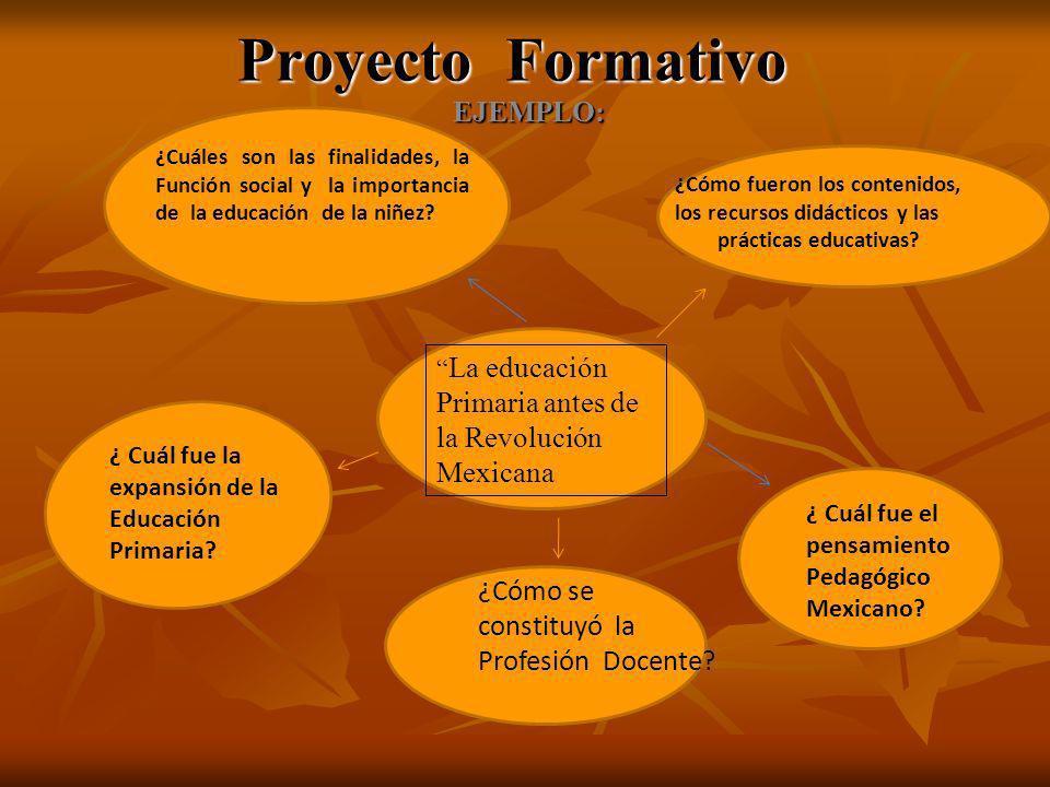 Proyecto Formativo EJEMPLO: ¿Cómo se constituyó la Profesión Docente