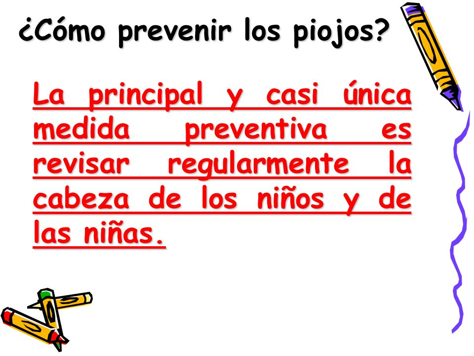 ¿Cómo prevenir los piojos
