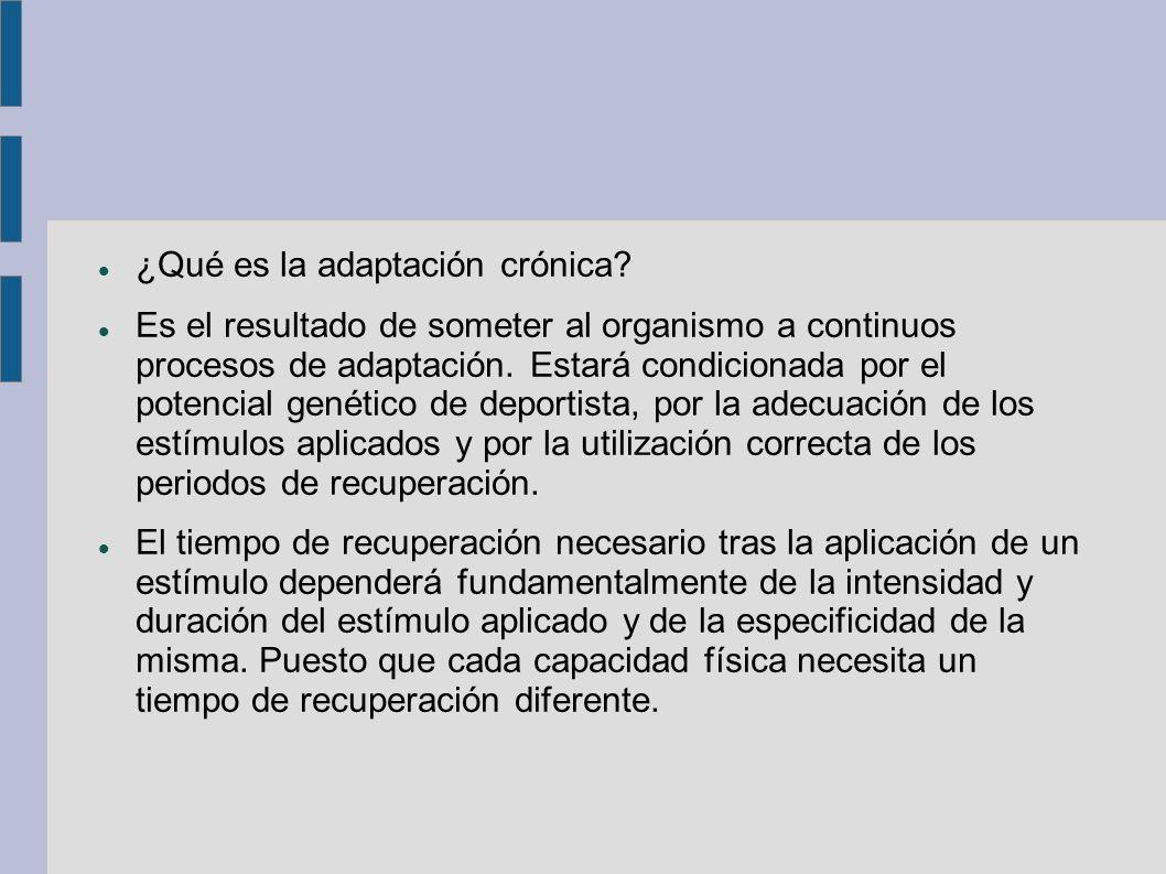 ¿Qué es la adaptación crónica