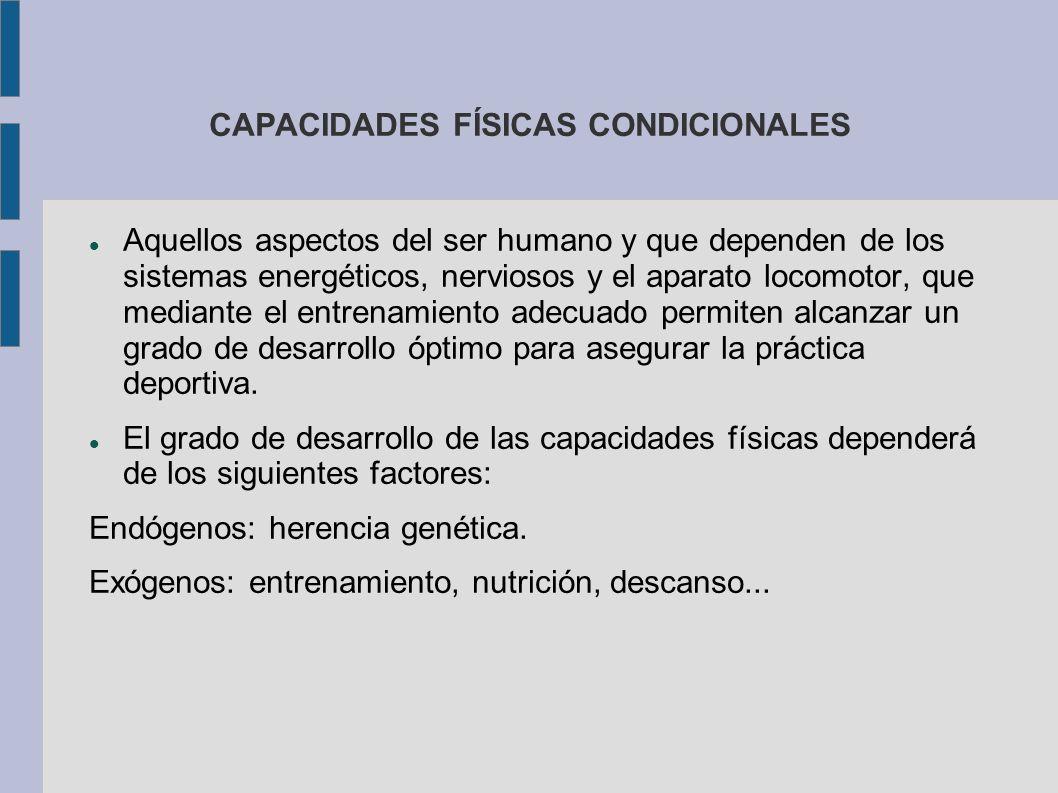 CAPACIDADES FÍSICAS CONDICIONALES