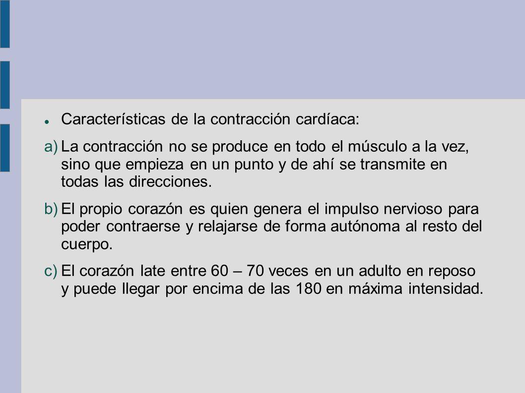 Características de la contracción cardíaca: