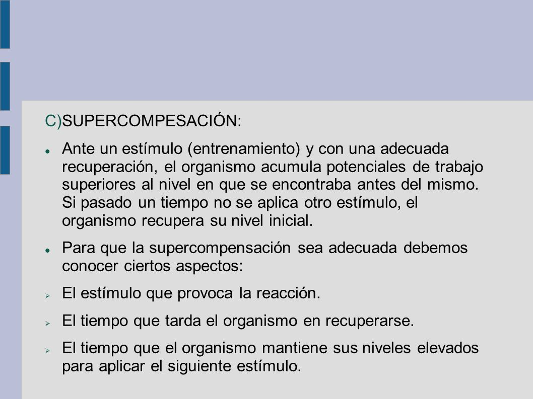 SUPERCOMPESACIÓN: