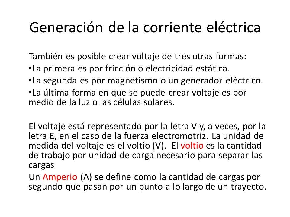 Generación de la corriente eléctrica