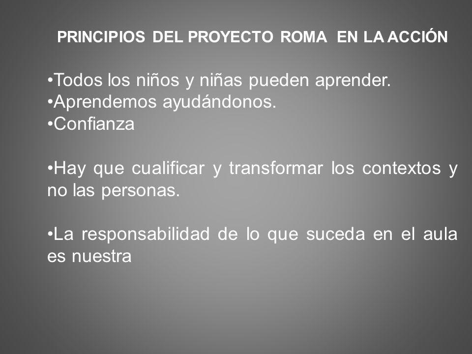 PRINCIPIOS DEL PROYECTO ROMA EN LA ACCIÓN