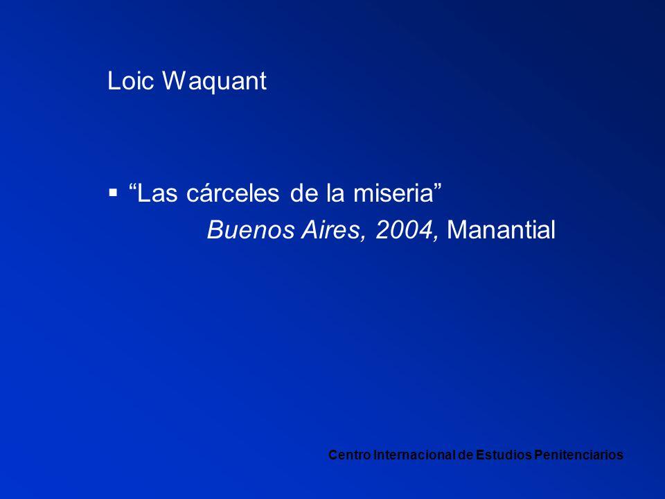 Las cárceles de la miseria Buenos Aires, 2004, Manantial