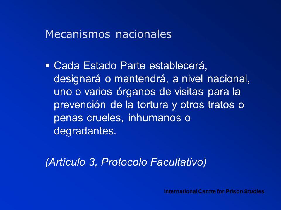 Mecanismos nacionales
