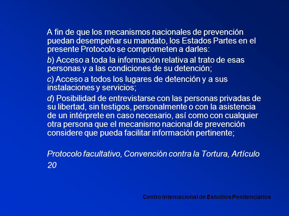 Protocolo facultativo, Convención contra la Tortura, Artículo 20