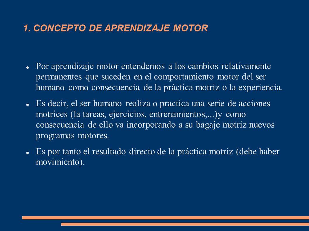 1. CONCEPTO DE APRENDIZAJE MOTOR