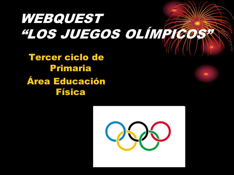 WEBQUEST LOS JUEGOS OLÍMPICOS