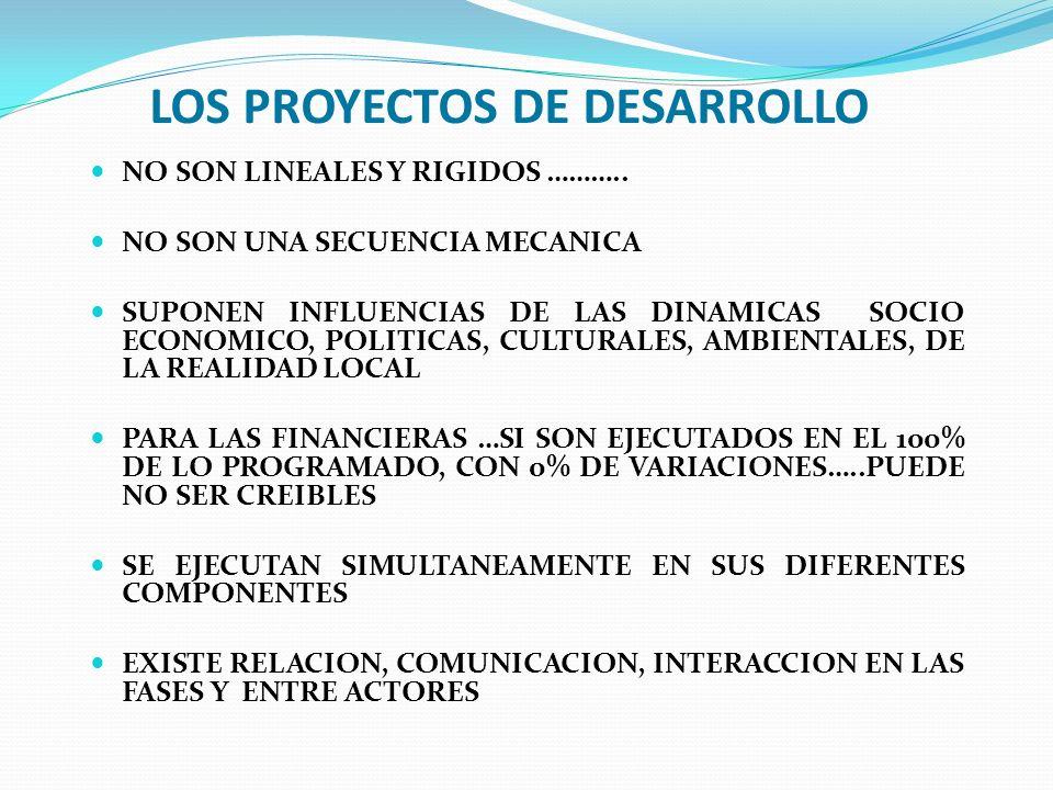 LOS PROYECTOS DE DESARROLLO