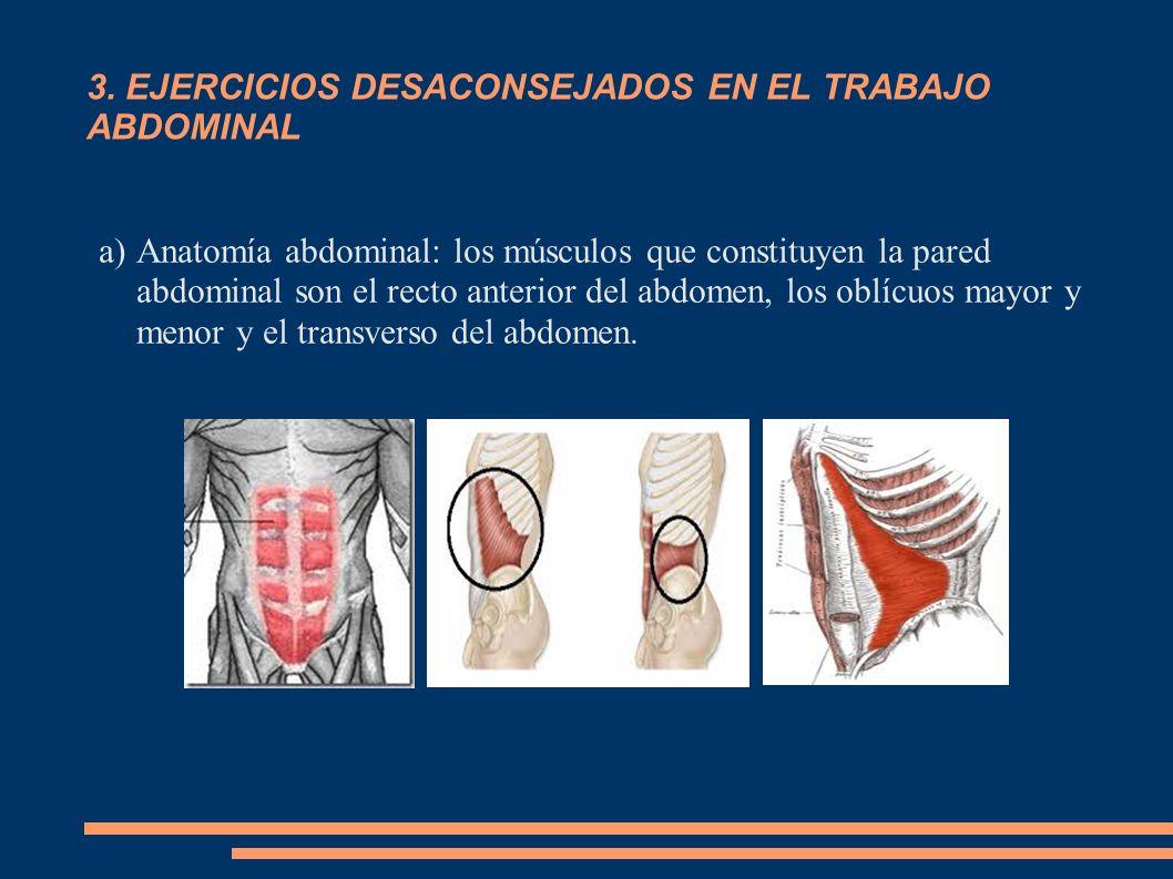 3. EJERCICIOS DESACONSEJADOS EN EL TRABAJO ABDOMINAL