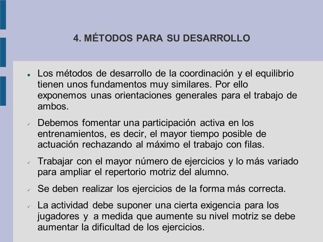 4. MÉTODOS PARA SU DESARROLLO