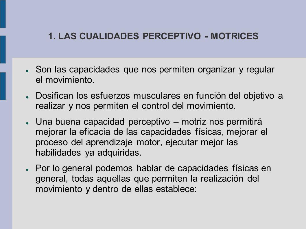 1. LAS CUALIDADES PERCEPTIVO - MOTRICES