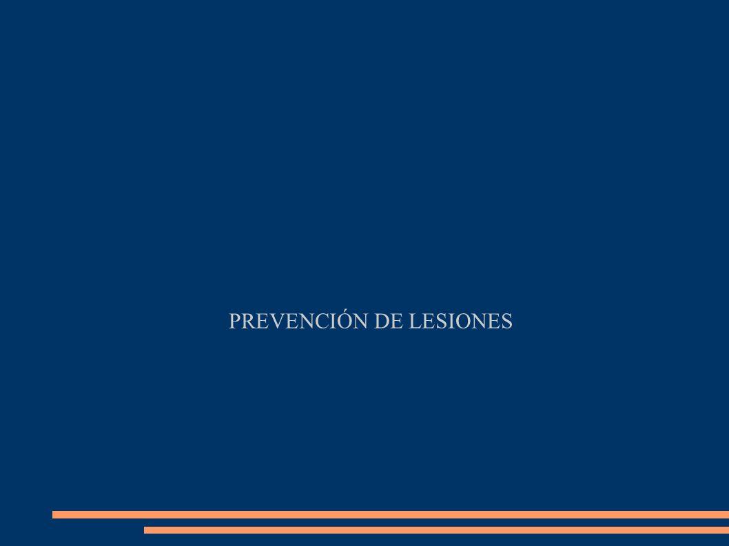 PREVENCIÓN DE LESIONES
