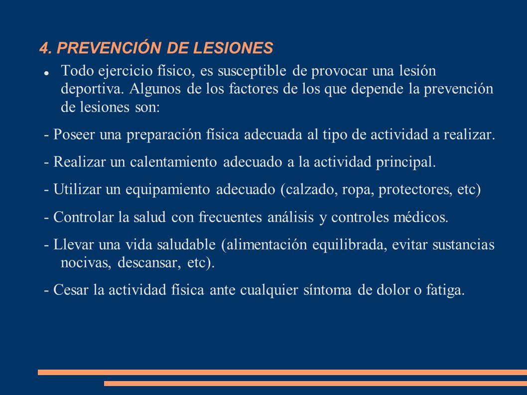 4. PREVENCIÓN DE LESIONES