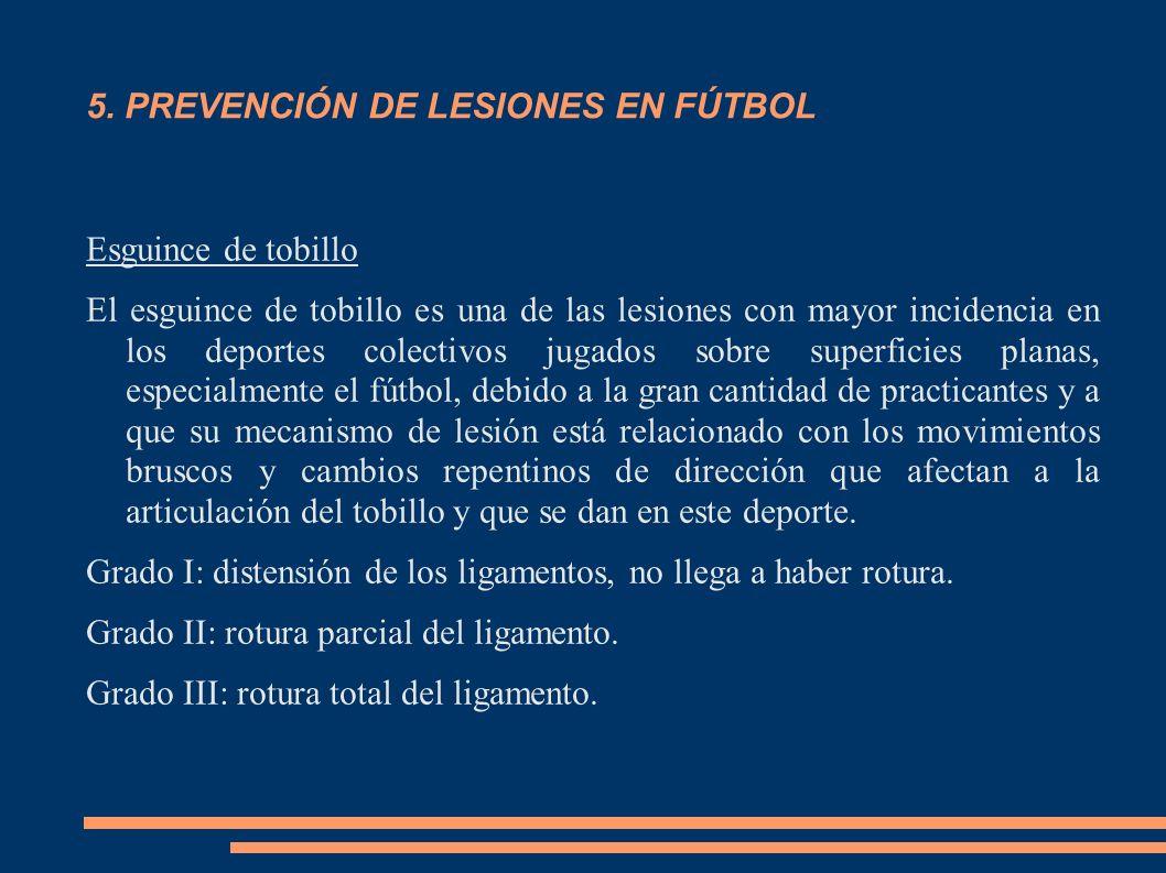 5. PREVENCIÓN DE LESIONES EN FÚTBOL