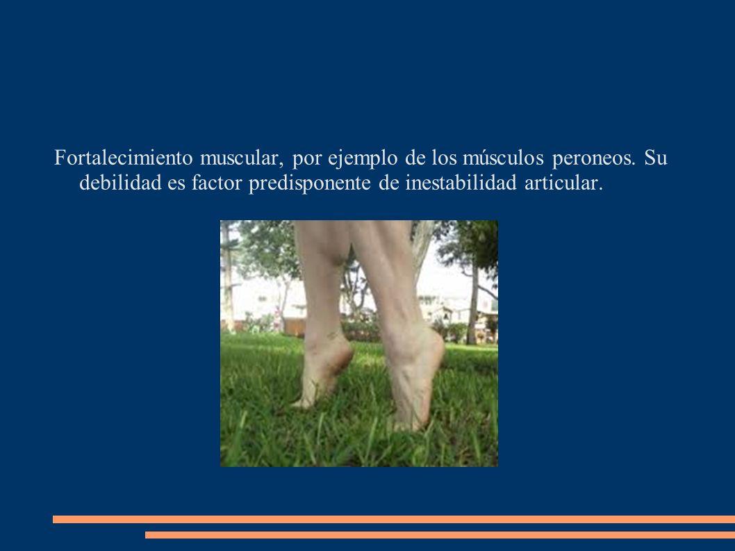 Fortalecimiento muscular, por ejemplo de los músculos peroneos