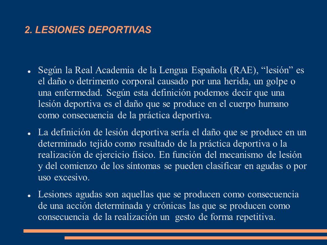 2. LESIONES DEPORTIVAS