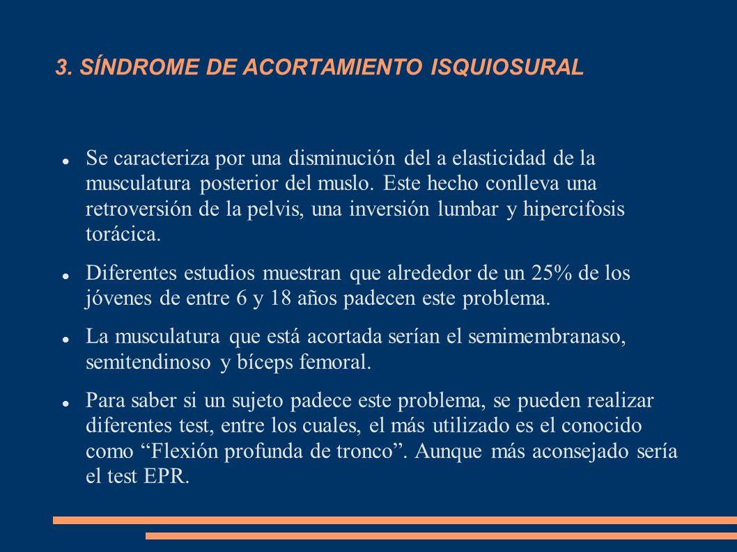 3. SÍNDROME DE ACORTAMIENTO ISQUIOSURAL