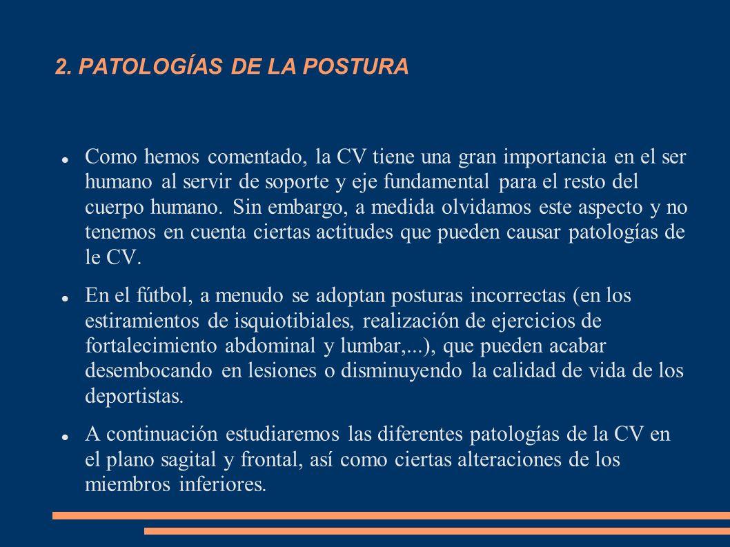 2. PATOLOGÍAS DE LA POSTURA