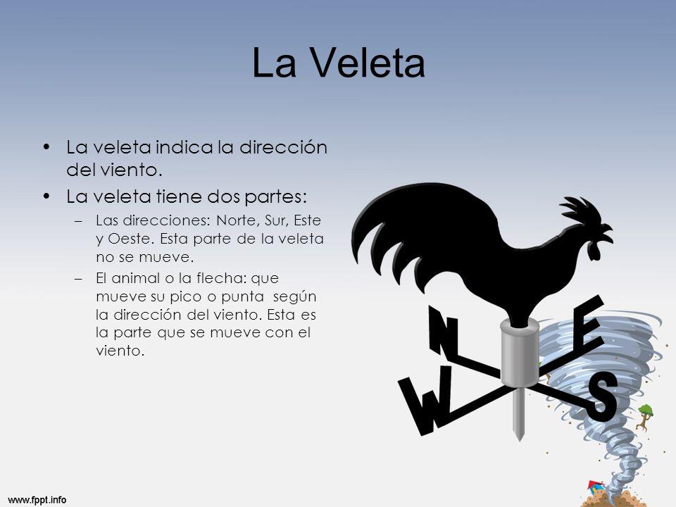 La Veleta La veleta indica la dirección del viento.