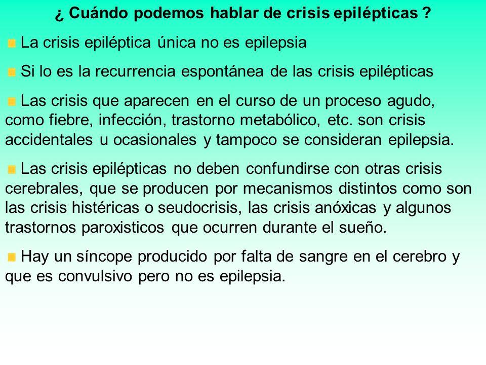 ¿ Cuándo podemos hablar de crisis epilépticas