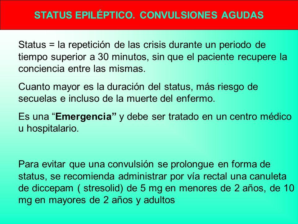 STATUS EPILÉPTICO. CONVULSIONES AGUDAS