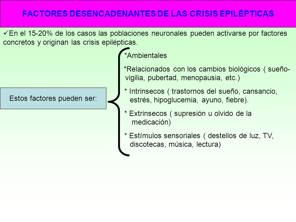 FACTORES DESENCADENANTES DE LAS CRISIS EPILÉPTICAS