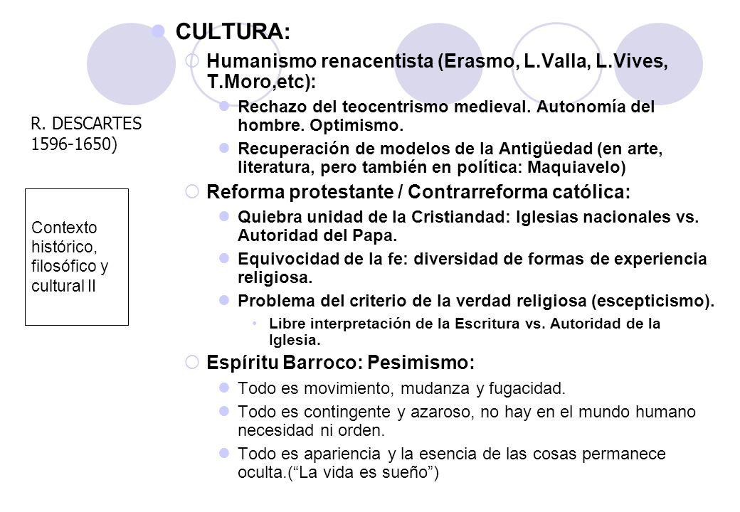 Contexto histórico, filosófico y cultural II
