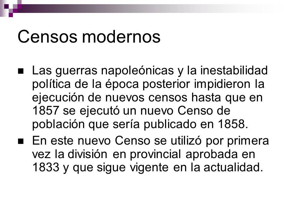 Censos modernos
