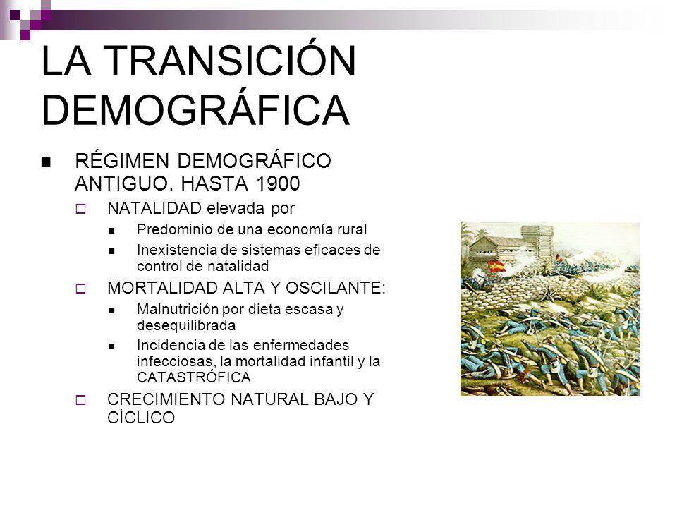 LA TRANSICIÓN DEMOGRÁFICA